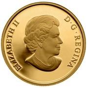 Canada 75 Dollars Superman 2013 Proof KM# 1450 ELIZABETH II D • G • REGINA coin obverse