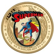 Canada 75 Dollars Superman 2013 Proof KM# 1450 CANADA SUPERMAN 75 DOLLARS CANADA 2013 coin reverse
