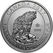 Canada 8 Dollars (Grizzly Bear) CANADA 2017 FINE SILVER 1 1/2 OZ ARGENT PUR 9999 coin reverse