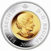 Canada 8 Dollars Railway Bridge 2005 Proof KM# 597 ELIZABETH II D ∙ G ∙ REGINA 2005 coin obverse