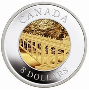 Canada 8 Dollars Railway Bridge 2005 Proof KM# 597 CANADA 8 DOLLARS coin reverse