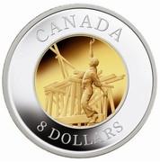 Canada 8 Dollars Railway Worker 2005 Proof KM# 598 CANADA 8 DOLLARS coin reverse