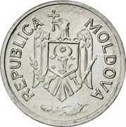 Moldova Ban 2000 KM# 1 Decimal Coinage REPUBLICA MOLDOVA coin obverse