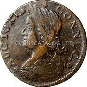 USA Connecticut Copper 1787 KM# 8.7 Connecticut Coppers AUCTORI CONNLC. coin obverse