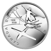Canada Dollar 100th Anniversary of Flight in Canada 2009 Proof KM# 889 CANADA DOLLAR 1909-2009 coin reverse