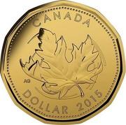 Canada Dollar Elizabeth II O Canada 2015 KM# 1849 CANADA AG DOLLAR coin reverse