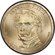 2010 D Franklin Pierce Presidential Dollar ANACS MS63 Uncirculated