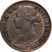 Canada Half cent Victoria 1864 KM# 7 VICTORIA D:G: BRITT: REG:F:D: coin obverse