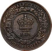 Canada Half cent Victoria 1864 KM# 7 HALF CENT NOVA SCOTIA coin reverse