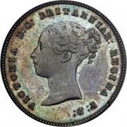 UK Half Farthing Victoria 1839 KM# 738.1 VICTORIA D: G: BRITANNIAR: REGINA F: D: coin obverse