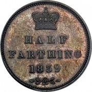 UK Half Farthing Victoria 1839 KM# 738.1 HALF FARTHING 1839 coin reverse