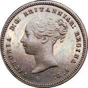 UK Half Farting Victoria 1868 Proof VICTORIA D:G: BRITANNIAR: REGINA F: D: coin obverse