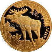 Russia One Hundred Roubles (Elk) СОХРАНИМ НАШ МИР coin reverse
