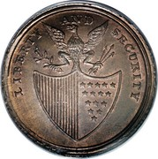 USA Penny 1795 KM# Tn77.2 Washington Pieces LIBERTY AND SECURITY coin reverse