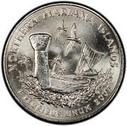 USA Quarter Dollar Northern Mariana Islands 2009 KM# 466 NORTHERN MARIANA ISLANDS E PLURIBUS UNUM coin reverse