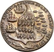 USA Rohde Yland Ship Token 1779 KM# Tn29 D'VLUGTENDE AMERICAANE N VAN ROHDE YLAND AUGT 1778 coin reverse