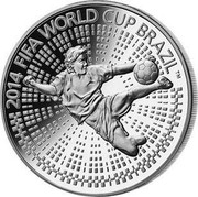 Belarus Rouble 2014 FIFA World Cup Brazil 2013 Proof KM# 448 2014 FIFA WORLD CUP BRAZIL (TM) coin reverse
