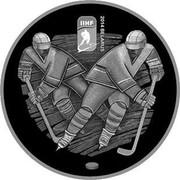 Belarus Rouble 2014 World Ice Hockey Championship 2012 KM# 479 IIHF 2014 BELARUS coin reverse