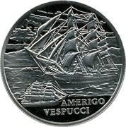 Belarus Rouble Amerigo Vespucci 2010 Proof KM# 263 AMERIGO VESPUCCI coin reverse