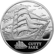 Belarus Rouble Cutty Sark 2011 Proof KM# 270 CUTTY SARK coin reverse