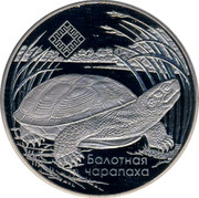 Belarus Rouble Middle Reaches of the Prypyat River 2010 Prooflike KM# 236 БАЛОТНАЯ ЧАРАПАХА coin reverse