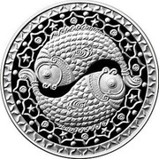 Belarus Rouble Pisces 2009 KM# 315 coin reverse