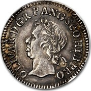 UK 1/2 Crown Oliver Cromwell (Pattern) 1656 OLIVAR∙D∙G R∙P∙ANG∙SCO∙HIB PRO coin obverse