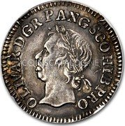 UK 1/2 Crown (Oliver Cromwell (Pattern)) OLIVAR∙D∙G R∙P∙ANG∙SCO∙HIB PRO coin obverse