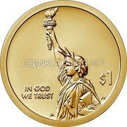 USA $1 (American Innovation Introductory Coin) IN GOD WE TRUST $1 coin obverse