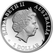 Australia 1 Dollar Australian Kangaroo 2018 ELIZABETH II AUSTRALIA 1 DOLLAR coin obverse