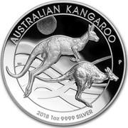 Australia 1 Dollar Australian Kangaroo 2018 AUSTRALIAN KANGAROO 2018 1 OZ 9999 SILVER coin reverse