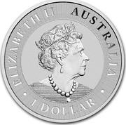 Australia 1 Dollar Australian Kangaroo 2019 P ELIZABETH II AUSTRALIA JC 1 DOLLAR coin obverse
