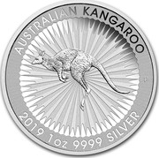 Australia 1 Dollar Australian Kangaroo 2019 P AUSTRALIAN KANGAROO P 2019 1 OZ 9999 SILVER coin reverse
