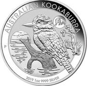Australia 1 Dollar Australian Kookaburra 2019 Panda privy AUSTRALIAN KOOKABURRA 2019 1OZ 9999 SILVER P coin reverse