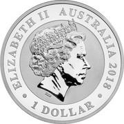 Australia 1 Dollar Australian Swan 2018 P BU ELIZABETH II AUSTRALIA 2018 1 DOLLAR coin obverse