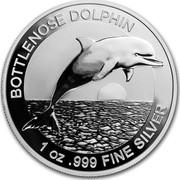 Australia 1 Dollar Dolphin 2019 BOTTLENOSE DOLPHIN 1 OZ .999 FINE SILVER coin reverse
