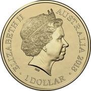 Australia 1 Dollar Invictus Games Sydney 2018 2018 UNC in Coincard ELIZABETH II AUSTRALIA 2018 1 DOLLAR IRB coin obverse