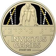 Australia 1 Dollar Invictus Games Sydney 2018 2018 UNC in Coincard ⠠⠎⠽⠙⠝⠑⠽ ⠼⠈⠓ INVICTUS GAMES SYDNEY 2018 AS coin reverse