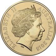 Australia 1 Dollar Sir John Monash 2018 Coincard ELIZABETH II AUSTRALIA 2018 IRB coin obverse