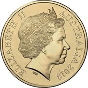 Australia 1 Dollar Snugglepot & Cuddlepie 2018 UNC in Slipcase ELIZABETH II AUSTRALIA 2018 IRB coin obverse