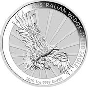 Australia 1 Dollar Wedge-Tailed Eagle 2019 AUSTRALIAN WEDGE-TAILED EAGLE 2019 1 OZ 9999 SILVER P JM coin reverse