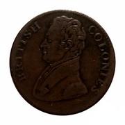 Canada 1 Penny British Colonies 1825 BRITISH COLONIES coin obverse