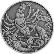 Belarus 1 Rouble Cancer 2015 Antique finish KM# 547 CANCER coin reverse