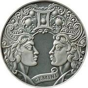 Belarus 1 Rouble Gemini 2014 Antique finish KM# A484 GEMINI coin reverse