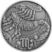 Belarus 1 Rouble Scorpio 2015 Antique finish KM# 545 SCORPIO coin reverse
