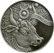Belarus 1 Rouble Taurus 2014 Antique finish KM# D457 TAURUS coin reverse