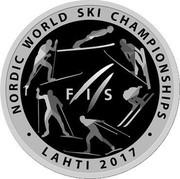 Belarus 1 Rouble The world ski championship 2017 Proof-like FIS NORDIC WORLD SKI CHAMPIONSHIP LAHTI 2017 coin reverse