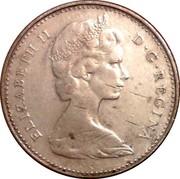 Canada 10 Cents Bluenose sailing Ottawa mint 1968 KM# 72 ELIZABETH II D ∙ G ∙ REGINA coin obverse