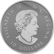 Canada 10 Dollars Learning to Play - Montreal Canadiens 2018 Matte Proof ELIZABETH II D G REGINA 10 DOLLARS coin obverse
