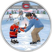 Canada 10 Dollars Learning to Play - Montreal Canadiens 2018 Matte Proof CANADA 2018 JM coin reverse